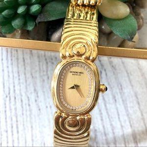 💯% Authentic RAYMOND WEIL • Gold Diamond Watch